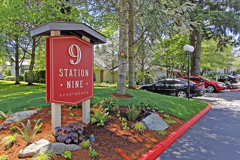 Station 9 Apartment sign
